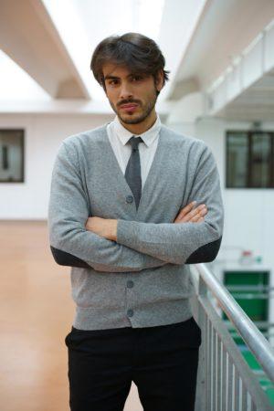 Cardigan rasato con bottoni - Maglificio Tonello